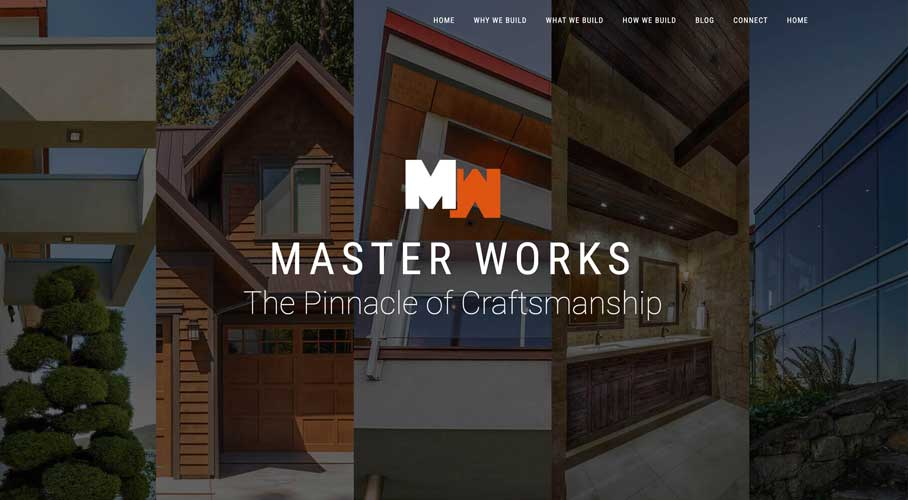 Custom Home Builder Website - Construction Website